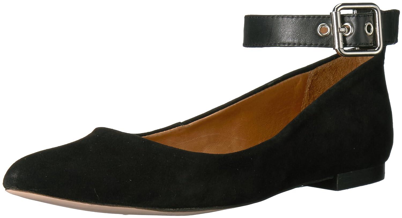 Opportunity Shoes - Corso Como Women's Ramona Ballet Flat B06X962WW3 7.5 B(M) US|Black Kid Suede/Black Calf