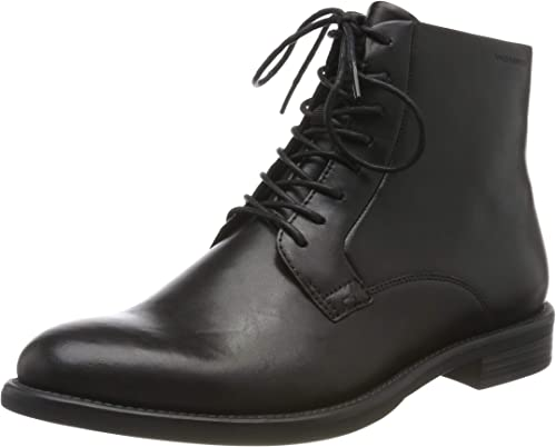 Womens Vagabond Amina Leather Office Lace Up Ankle Block Heel Boot