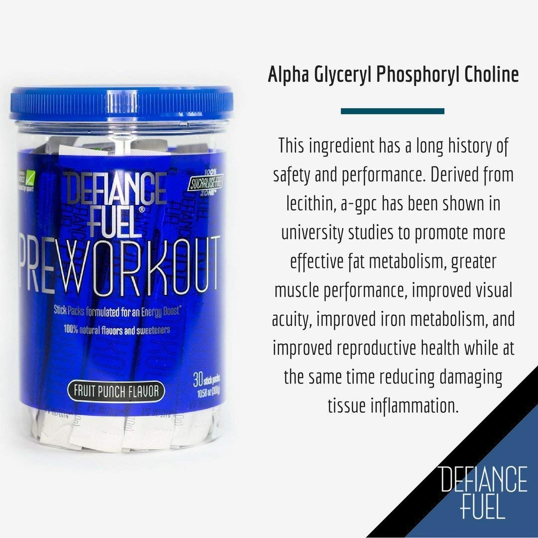 Defiance Fuel Pre Workout Powder Energy Drink w/ Beta Alanine, Taurine and Amino Acids by Defiance Fuel (Image #4)