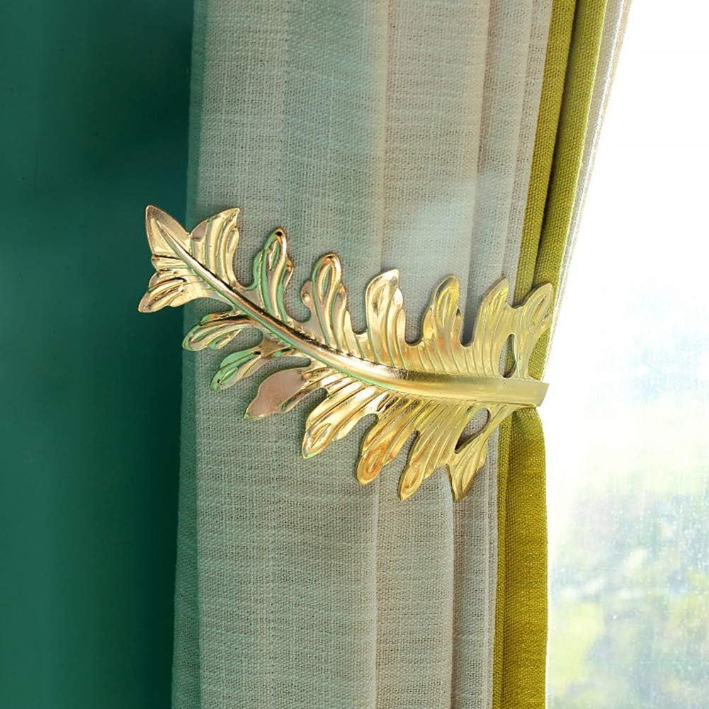 bronze 1 paire de crochets de rideaux d/écorations murales faciles /à installer en forme de U durable avec feuilles de style europ/éen support en m/étal pratique pour la maison et la mode Taille unique