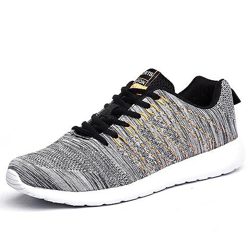 Affinest Hombre Zapatillas de Running Gimnasia Ligero Sneakers Aire Libre y Deporte Casual Malla Caminar Zapatos