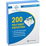 200 Page Protectors 8.5 x 11, Top Loading / 3 Hole Design Sheet Protectors, Archival Safe for Photos or Printed Copy, Holds M