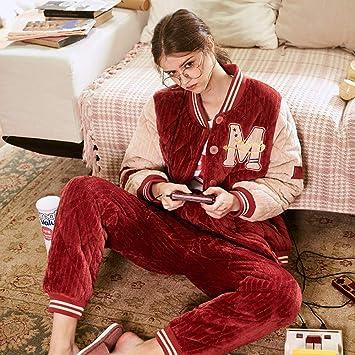 WANG-LONG Ropa De Dormir Batas Mujer Conjunto De Pijamas ...
