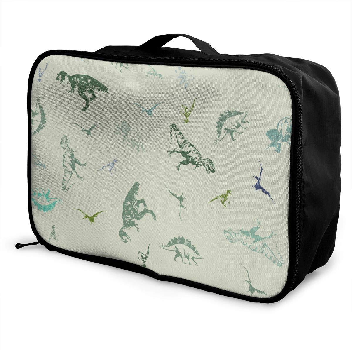 Travel Luggage Duffle Bag Lightweight Portable Handbag Dinosaurs Print Large Capacity Waterproof Foldable Storage Tote