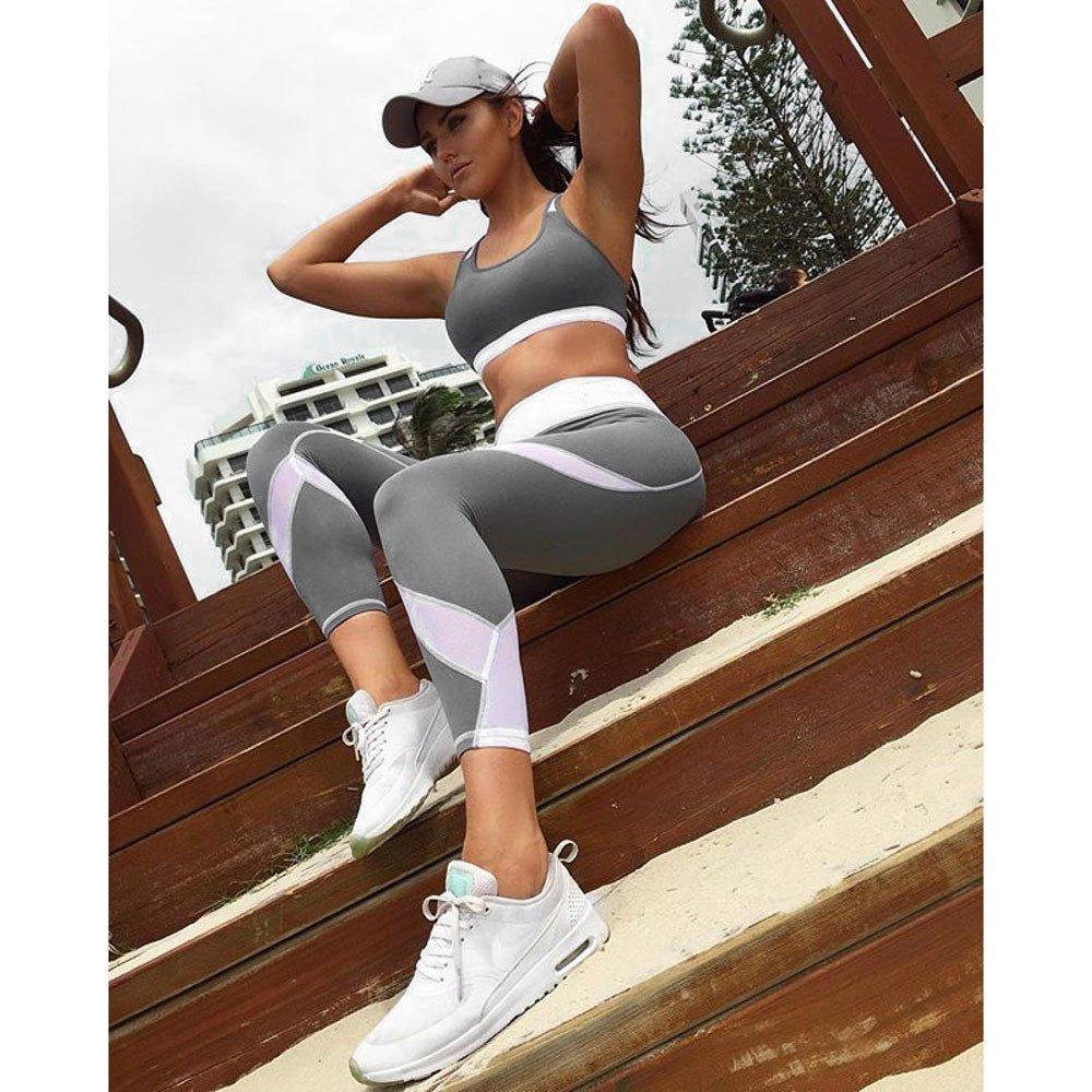 TianWlio Leggings Damen Frauen Sport Yoga Workout Gym Fitness Leggings /Übung Sportliche Hose Grau S//M//L//XL