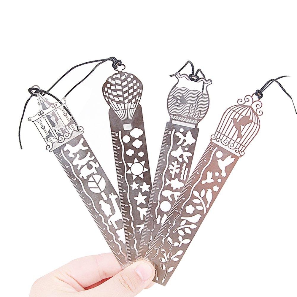 3cm 4 Pcs Oyfel R/ègle en Metal Signet de Peinture Pochoir pour Cercle Magique Enfant Cr/éatif Fournitures Scolaires Papeterie Cadeau 15