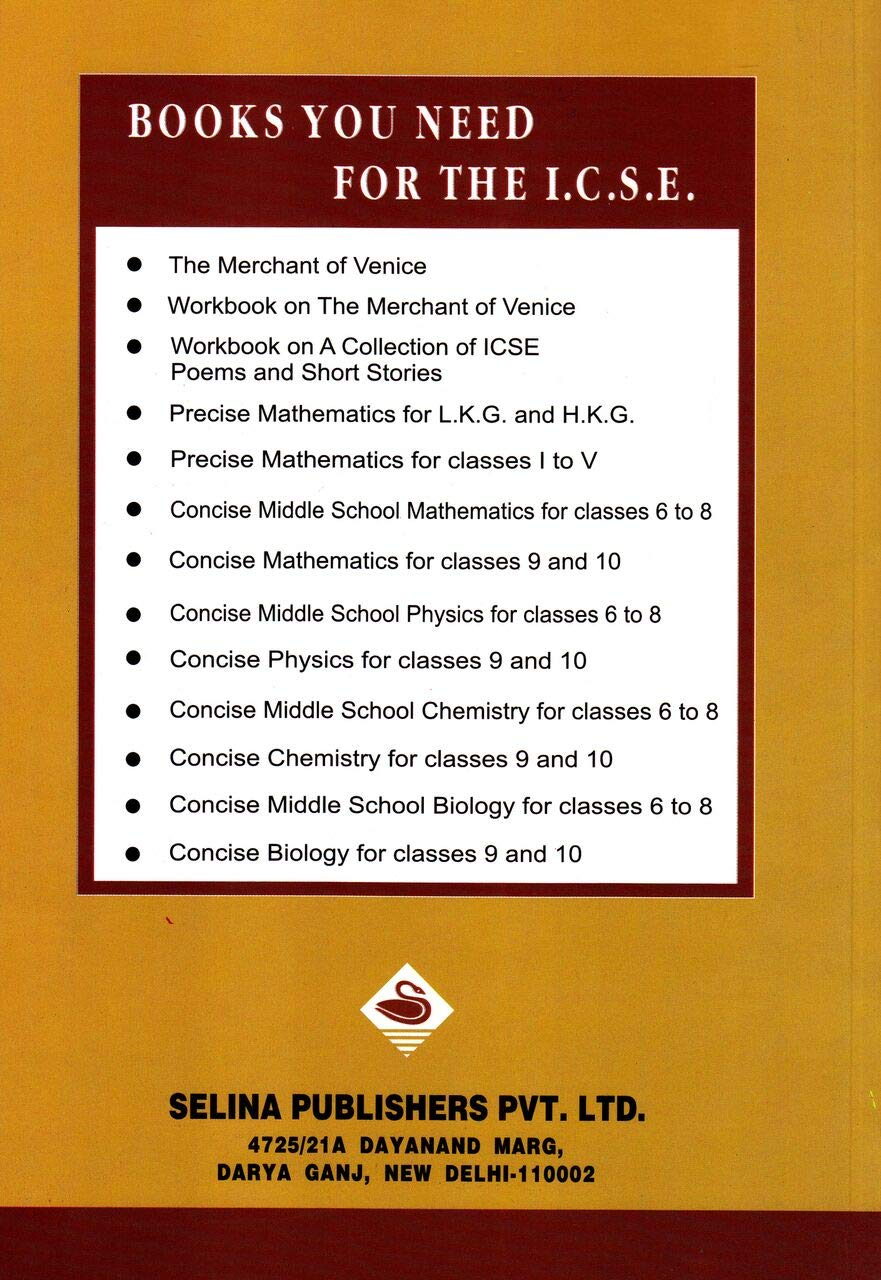 Amazon in: Buy Selina ICSE Concise Mathematics for Class 10 (2019