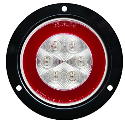 "Optronics STL101RCFMBP 4"" Sealed LED Stop/Parking/Turn Signal Light, Glolight, Red: Automotive"