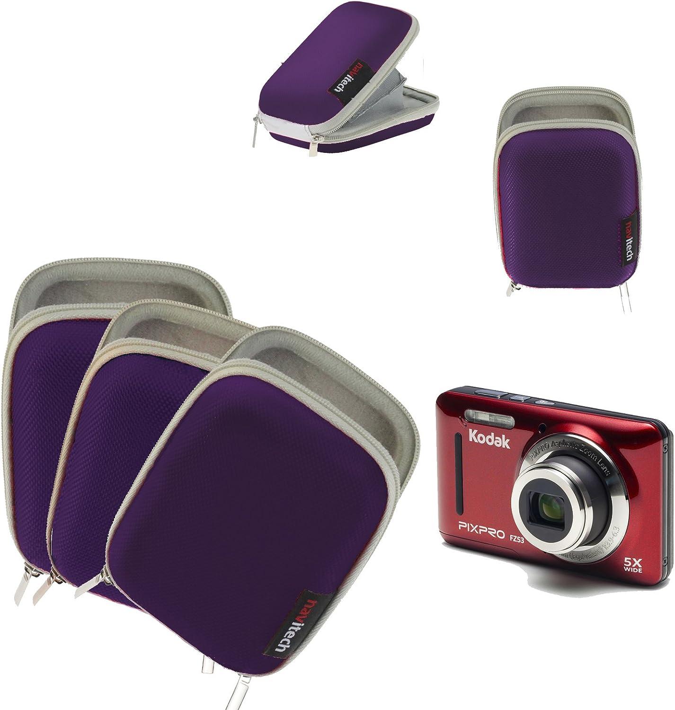 Navitech Purple Digital Camera Case Bag Compatible with The Casio EX-ZR800