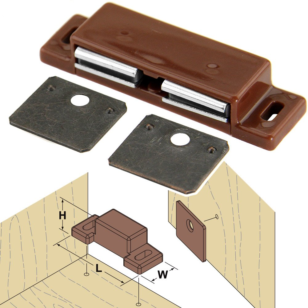 Platte River 157538, 100-pack, Hardware, Locks And Latches, Magnetic Catches, Double Magnetic Catch by Platte River (Image #1)
