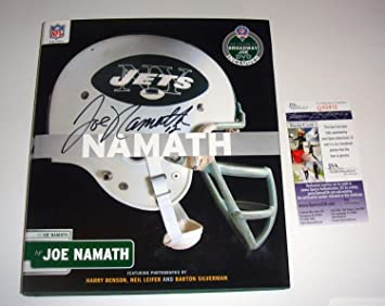 35858485cac New York Jets HOF Joe Namath Autographed Signed Namath Hard Cover ...