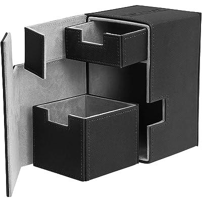 Flip N Tray Xenoskin Deck Case 100/120 Card, Black: Toys & Games