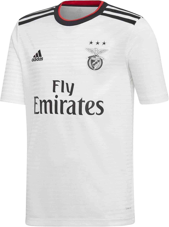 adidas Camiseta SL Benfica Segunda Equipación 2018-2019 Niño White-Black-Benfica Red: Amazon.es: Deportes y aire libre