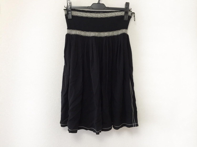 (プラダ) PRADA スカート レディース 黒×ベージュ 【中古】 B07FJ78TW6  -