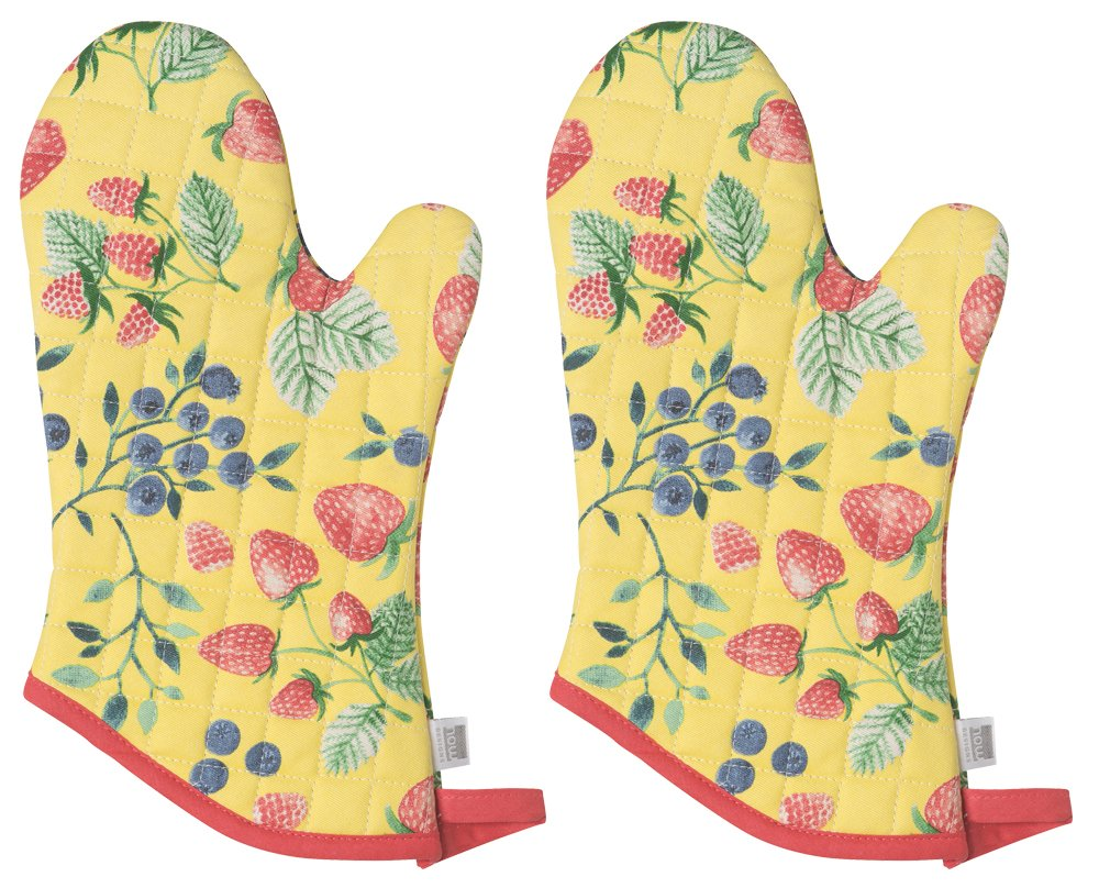 Now Designs Basic Oven Mitt, Set of Two, Berry Patch