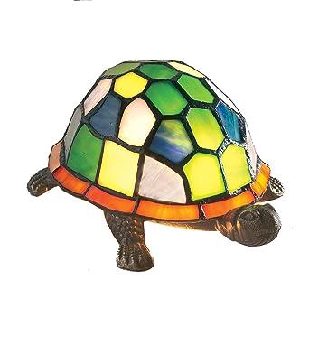 Loxton Lighting 13 cm Tiffany Turtle Table Lamp MultiColour