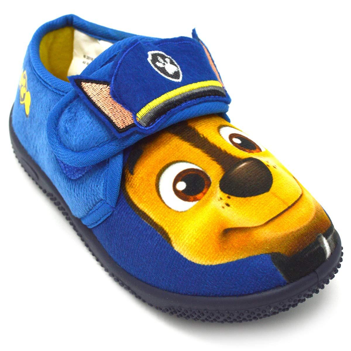 Garçons Paw Patrol Phelps Pantoufles Bleu)
