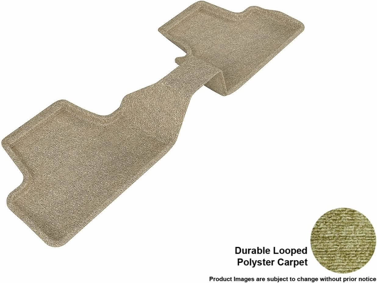 Black 3D MAXpider Second Row Custom Fit Floor Mat for Select Infiniti EX35 Models Classic Carpet
