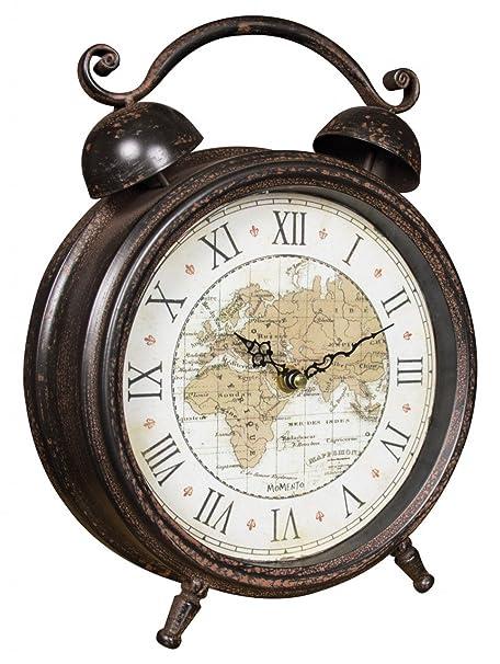 World map alarm clock amazon kitchen home world map alarm clock gumiabroncs Image collections