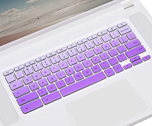 Keyboard Cover for Acer 15.6 inch Chromebook CB3-531 CB3-532 CB5-571 CP315 CB515 C910 | Acer Chromebook R 11 CB3-131 132T CB5-132T | Chromebook Spin 13 CP713 | Acer Chromebook 14 - Gradual Purple