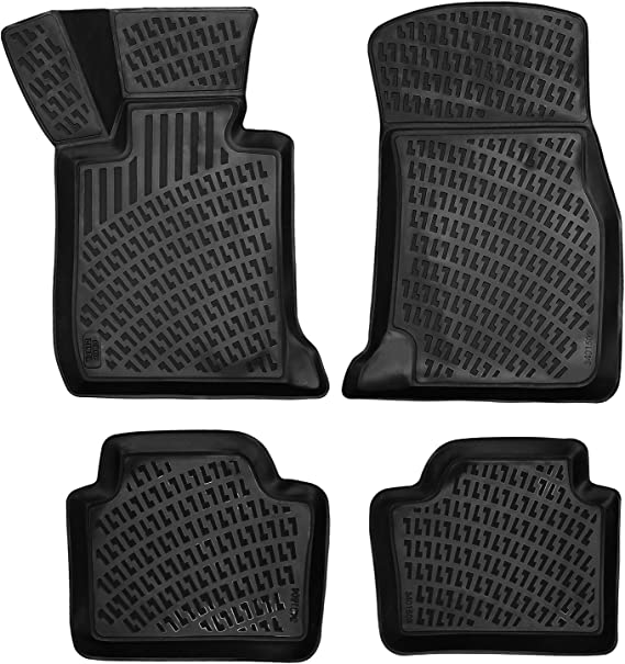 CFMBX1AU7057 Nylon Carpet Black Coverking Custom Fit Front and Rear Floor Mats for Select Audi A4 Models