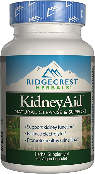 Ridgecrest KidneyAid, Herbal Cleanse and Support Capsules, 60 Vegetarian Capsules