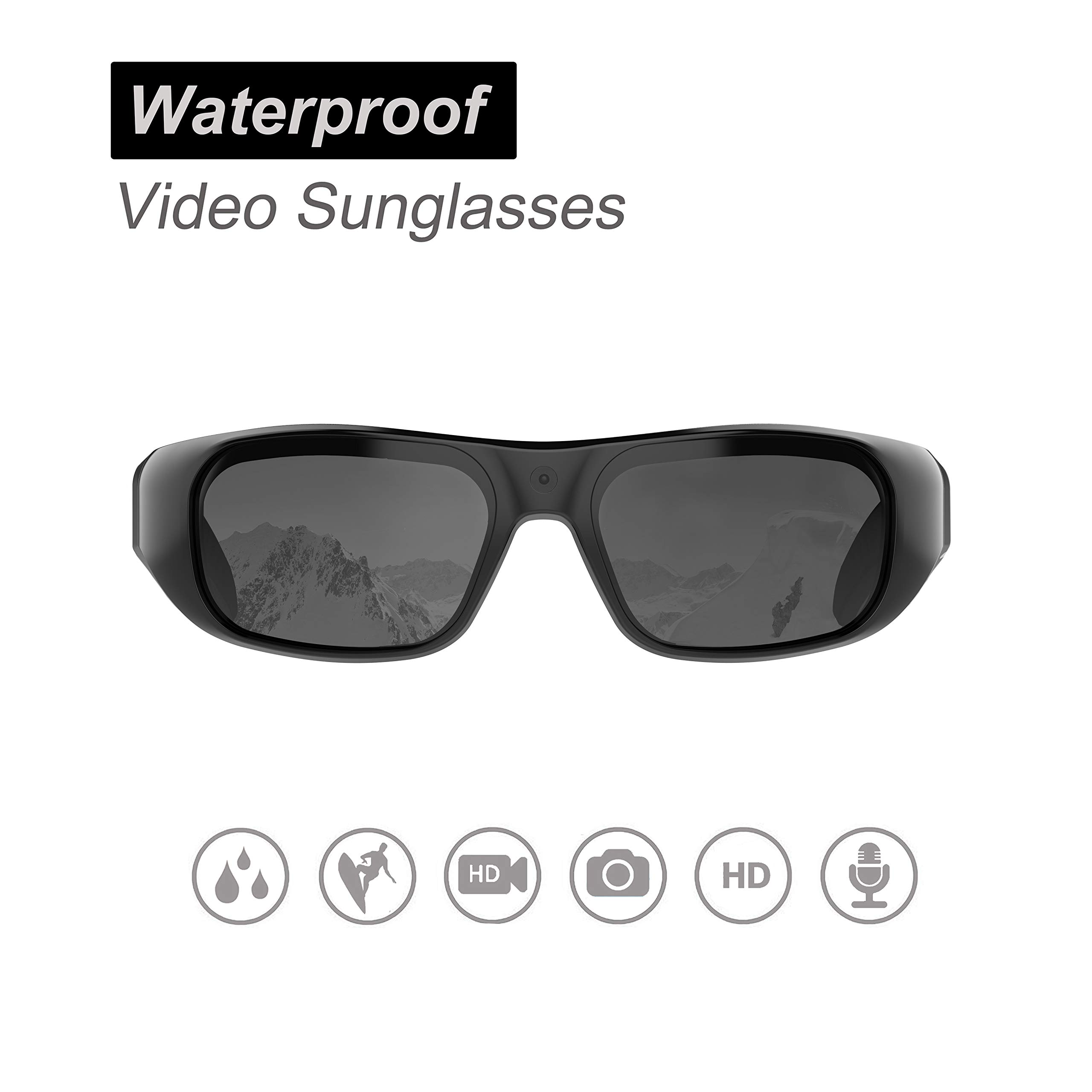 Waterproof Video Sunglasses,16GB 1080 HD Outdoor Sports Action Camera and Polarized UV400 Protection Safety Lenses,Unisex Sport Design by OhO sunshine