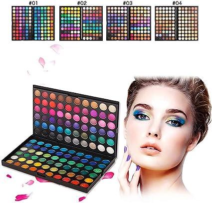 99AMZ 120 Colores Paleta De Sombras de Ojos - Mate Cosmética Kit Maquillaje Set Profesional Polvo de Sombra de Ojos Altamente Pigmentados Sombra de Ojos Impermeable Eyeshadow Sombra de Ojos (C): Amazon.es: