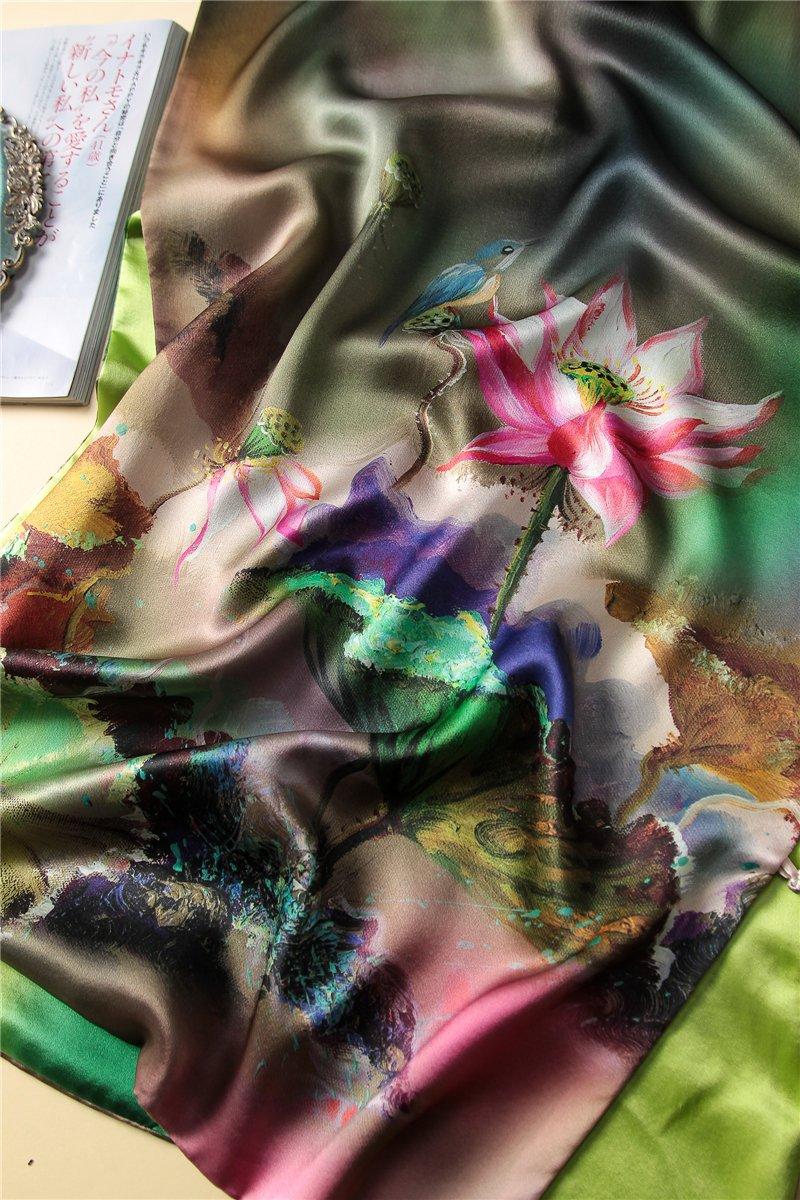 National style silk scarves, cheongsam shawls, high-end mulberry silk by KYXXLD