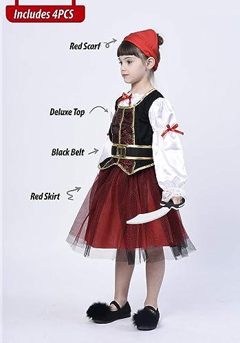 Amazon.com: Disfraz de pirata para niñas, juego de rol ...