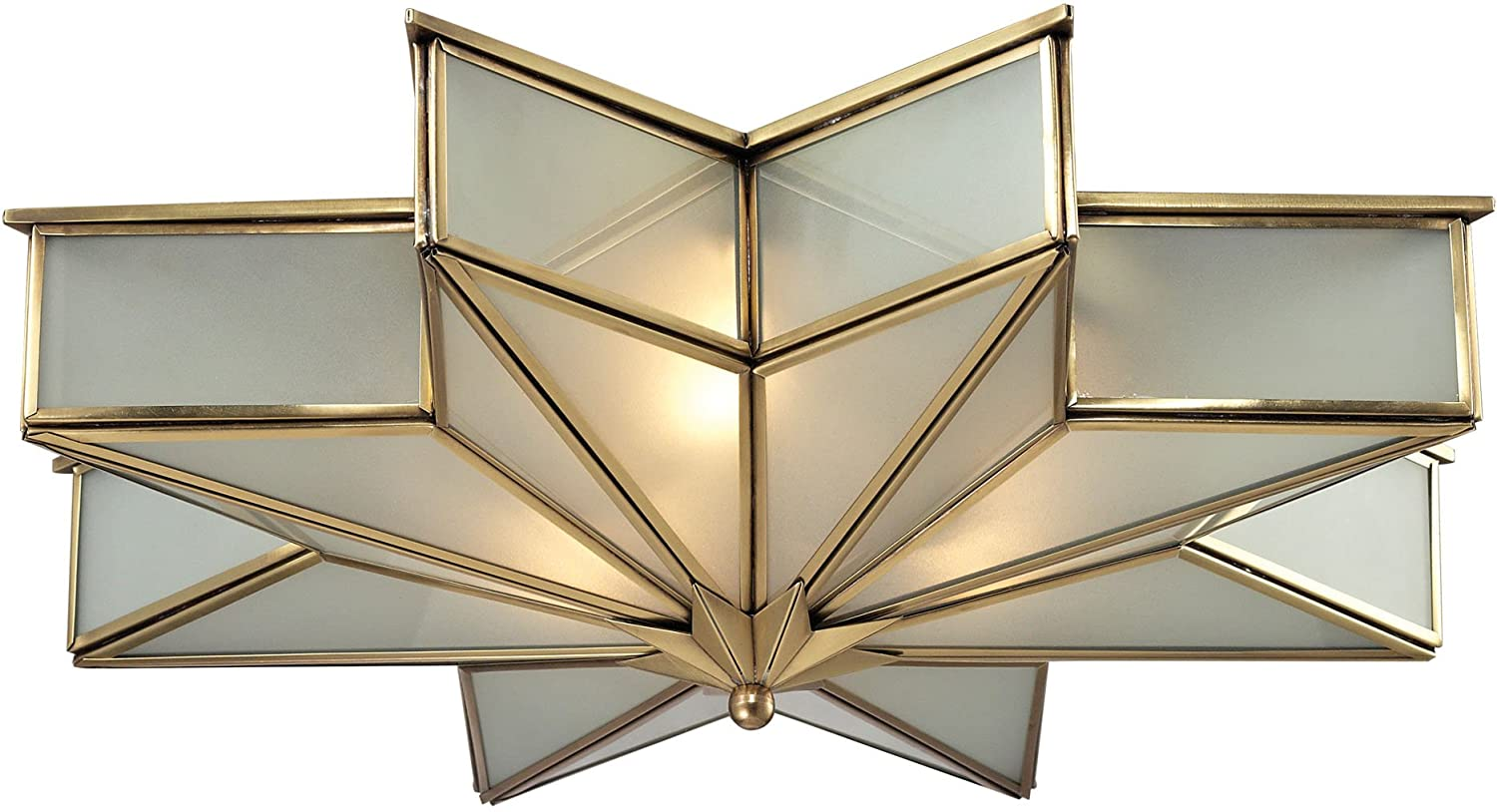 Elk lighting 220113 decostar collection 3 light flush mount elk lighting 220113 decostar collection 3 light flush mount brushed brass amazon mozeypictures