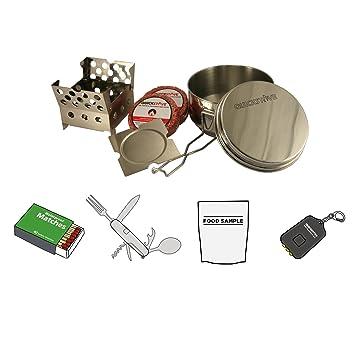 Amazon.com: Portátil de Emergencia Camp Cook Kit. Estufa ...