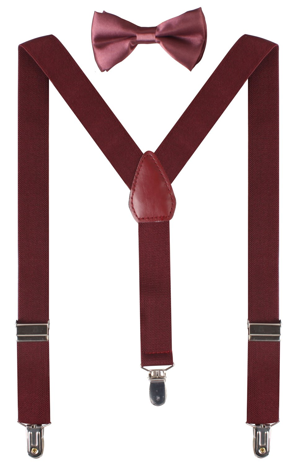 BODY STRENTH Boys' Bow Tie and Suspenders Set Classic Y Shape ALSKAD011129