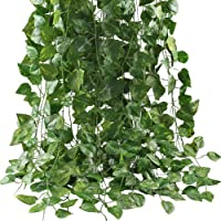 Mumoo Bear Artificial Ivy Leaf Plants Vine, 12 Strands 87 Feet Artificial Garlands Fake Foliage Flowers Hanging Vine for…