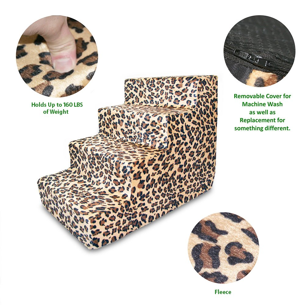 Best Pet Supplies ST225T-M Foam Pet Stairs/Steps, 4-Step, Animal Print by Best Pet Supplies, Inc. (Image #3)