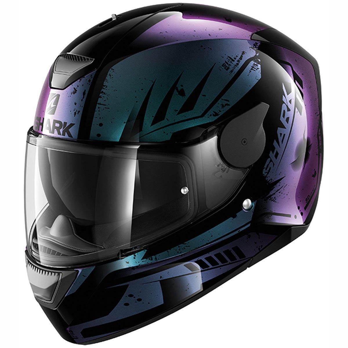 SHARK D-SKWAL DHARKOV KYA Motorcycle Helmet Size M Black//Yellow