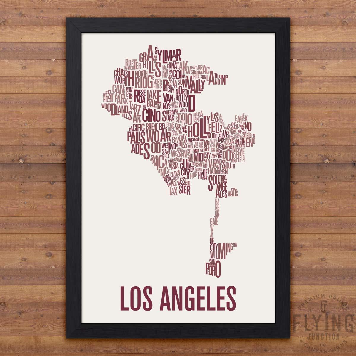 Pasadena Los Angeles Neighborhood Map Poster Wall Art