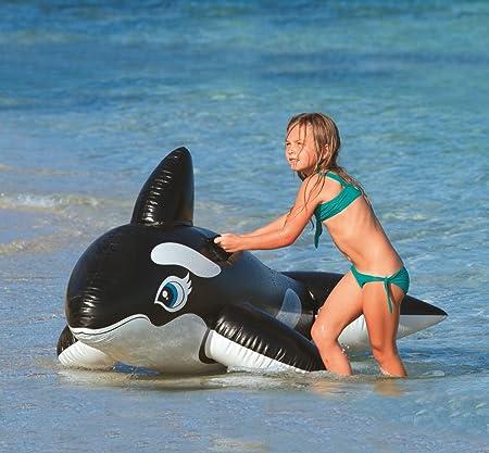 Intex Orca Hinchable, Vinilo, Negro y Blanco, 193x119 cm