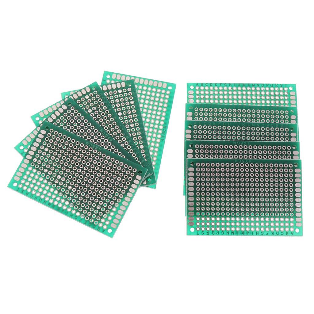 B Blesiya Set of 10 Universal Printed Double Side Prototype PCB Soldering Circuit Board