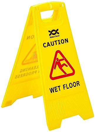 2 ps123-wet pieghevole segno sicurezza attenzione pavimento bagnato ...