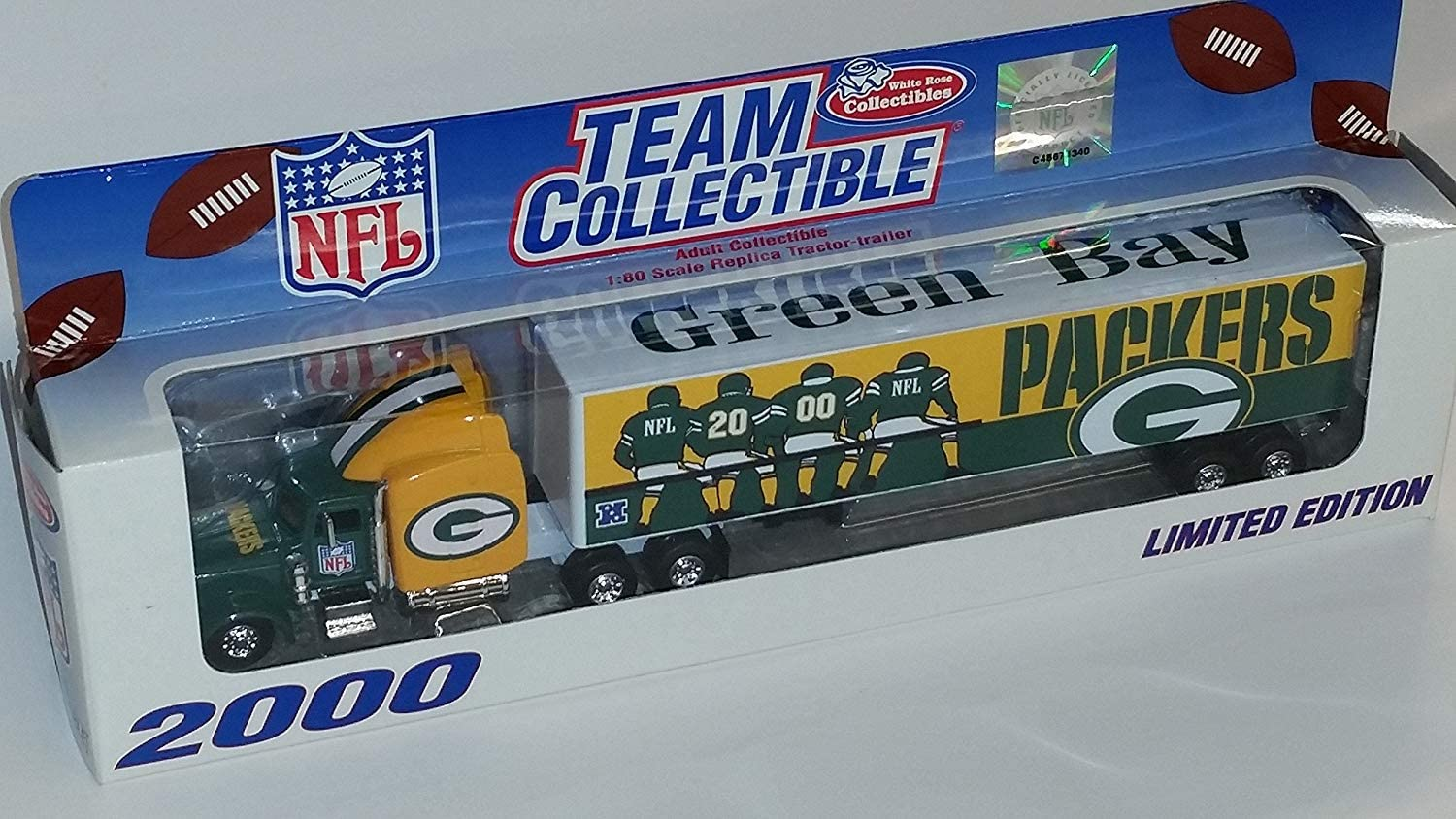 B00020SO56 Green Bay Packers 2000 NFL Limited Edition Die-Cast 1:80 Tractor-Trailer Semi Truck Collectible 71G2T-HoLdL