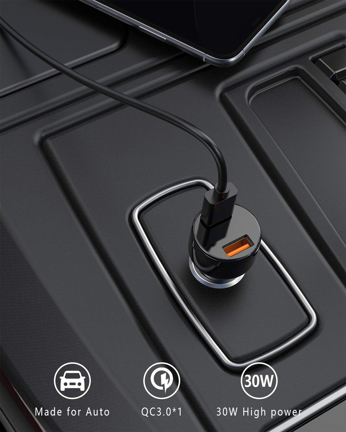 Nokia 8 Plus more Votec Compatible 2.1 AMP USB 3.1 Type C Rubberized Car Charger for Galaxy S9 S8 Note 8 Nexus 5 X 6P Pixel 2 Zmax Pro LG G6 V20 V30 Moto G6 Z2 Play Force ZTE Max XL International Wireless VPIC2WH