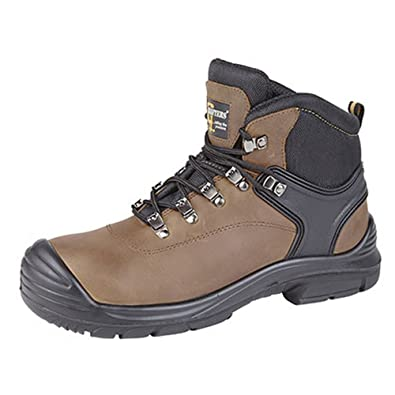 a0e06d0f69bd Grafters Mens Super Wide EEEE Fitting Safety Boots  Amazon.co.uk  Shoes    Bags