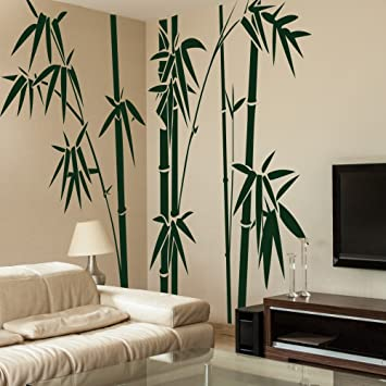 Vinyl Bamboo Wall Decal bamboo Wall Quote Tree Wall Sticker Wall Grpahic Home Art Decor 1 & Amazon.com: Vinyl Bamboo Wall Decal bamboo Wall Quote Tree Wall ...