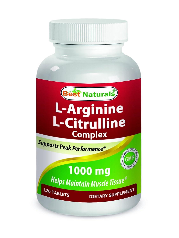 Best Naturals L-Arginine L-Citrulline Complex 1000 mg 120 ...