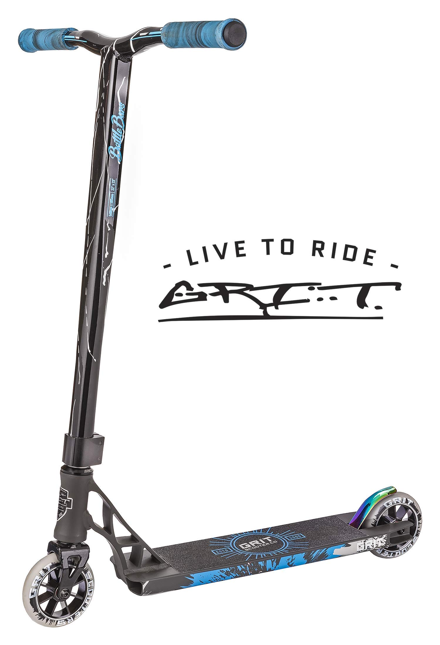 Grit Elite Pro Scooter (Satin Grey/White) by Grit Scooters