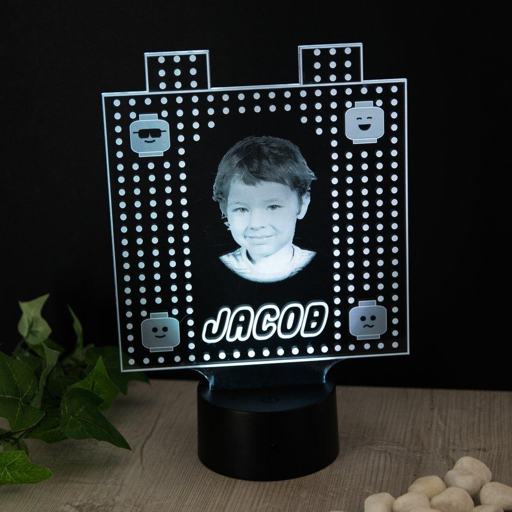 Blocks Regalo Personalizado con Foto Nombre Luz de Noche 16 Colores