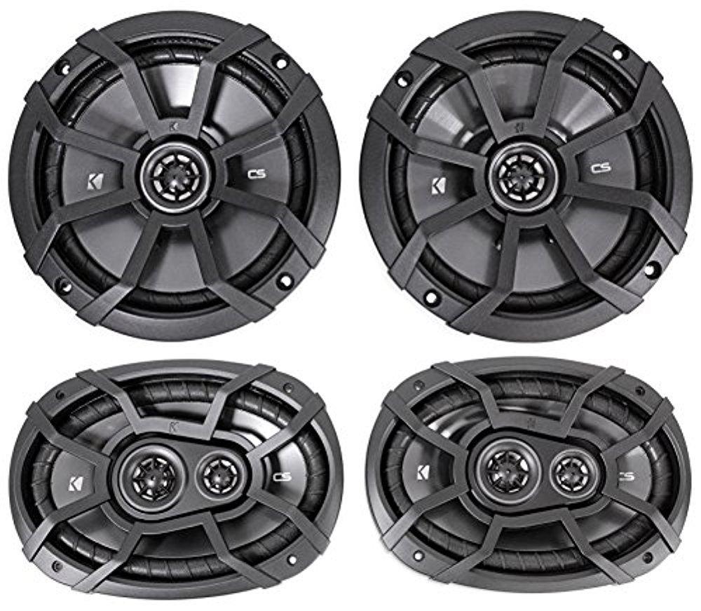 2) KICKER 43CSC674 6.75'' 600w Car Audio Speakers+2) 43CSC6934 6x9'' 900w Speakers