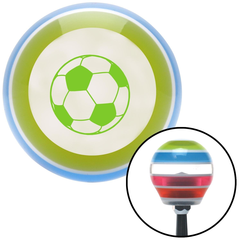 Green Soccer Ball American Shifter 137165 Stripe Shift Knob with M16 x 1.5 Insert