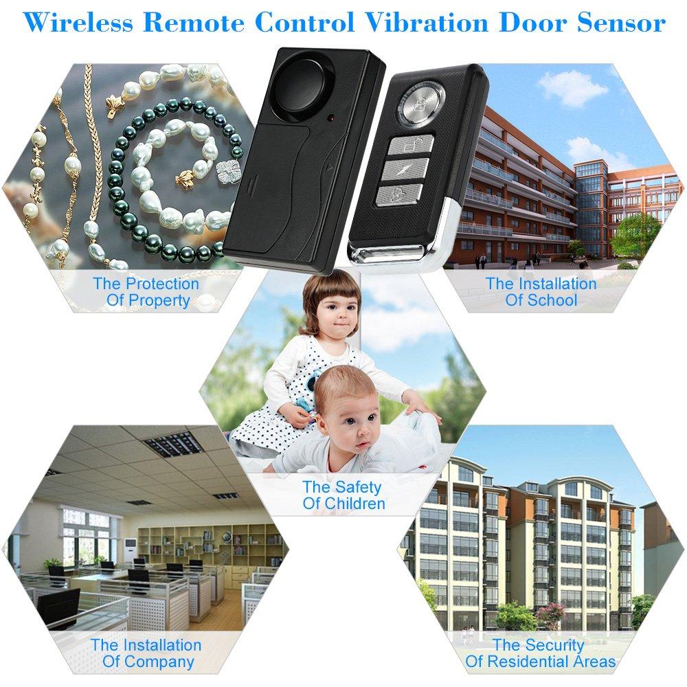 Auto- & Fahrzeugelektronik KKmoon Wireless Remote Control Vibration Alarm Home Haus Sicherheit Tü r Fenster Auto Sensor-Detektor